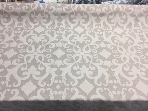 Damask Dark Beige Cotton Polyester Drapery Upholstery fabric by the yard