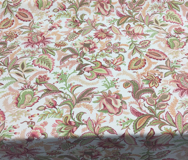 Richloom Wicklojs Passion Pink Floral fabric By the yard