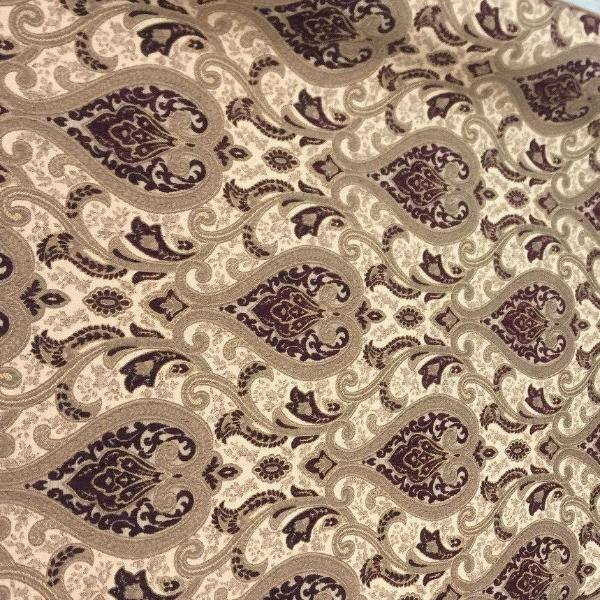 wine damask fabric