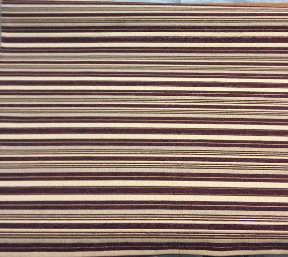 Stripe wine chenille fabric