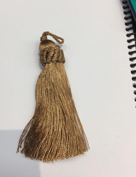 25 pieces Copper Italian Key tassel perfect for runners pillows keychains