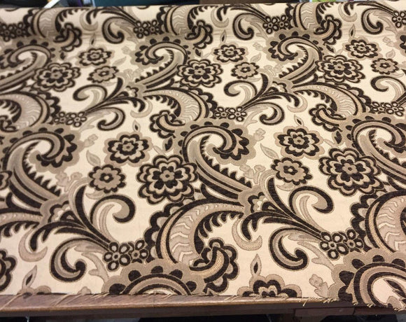 Moderna Brown Damask Fabric Chenille upholstery 56''  sofa couch pillows