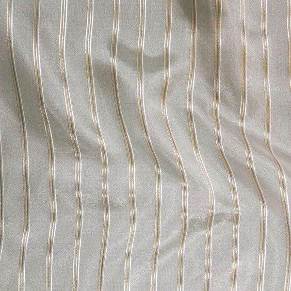 P Kaufmann Crossing Elegant Gold Stripe Sheer Fabric double width By the yard