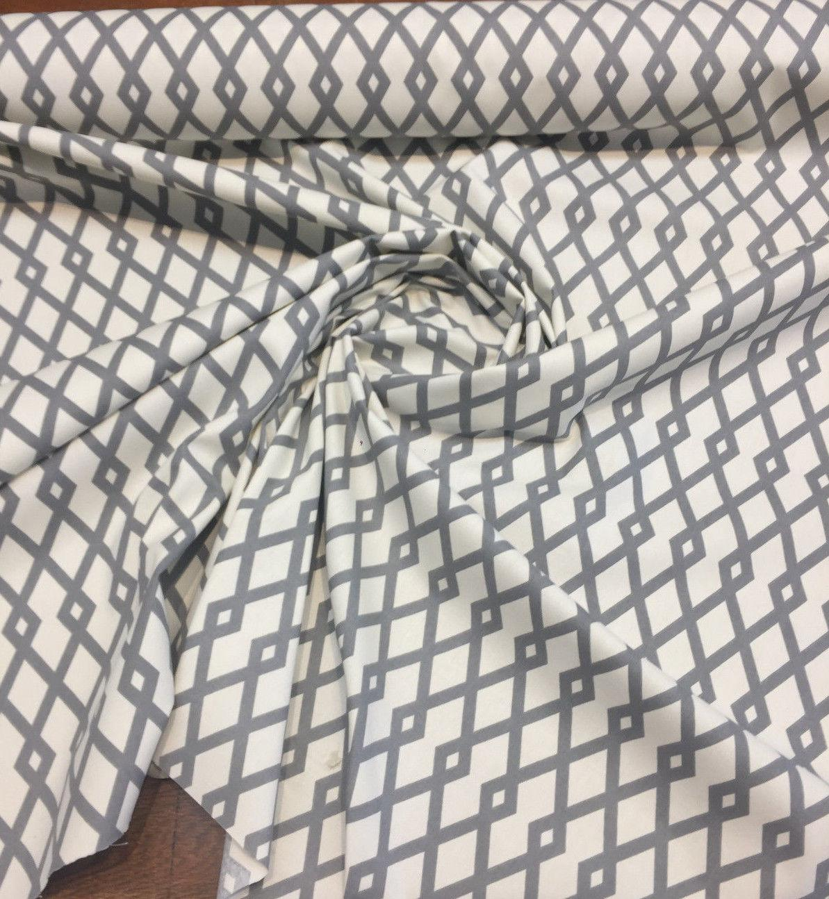 c59437c27fb ... Home Graphite Fret Ivory and Charcoal Grey Robert Allen Fabric By the  yard
