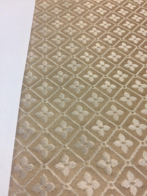 Sand Diamond Checks Brocade Italian Bella Multipurpose Upholstery Fabric 57''