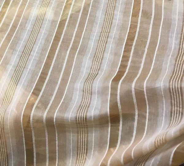 Gold Beautifull stripes 120'' inch double width Fabric  By the yard