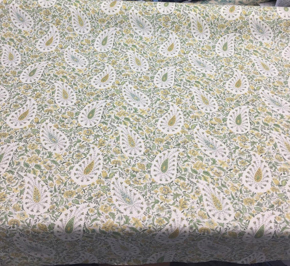 Waverly Fabric Paisley Verveine Spring Green Fabric by the yard