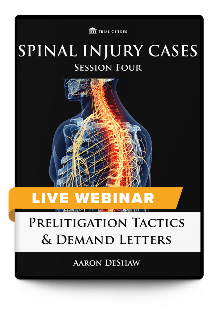 Handling Spinal Injury Cases - Sessions 3 and 4
