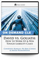 David vs. Goliath: How to Work Up and Win Tough Liability Cases - On Demand CLE