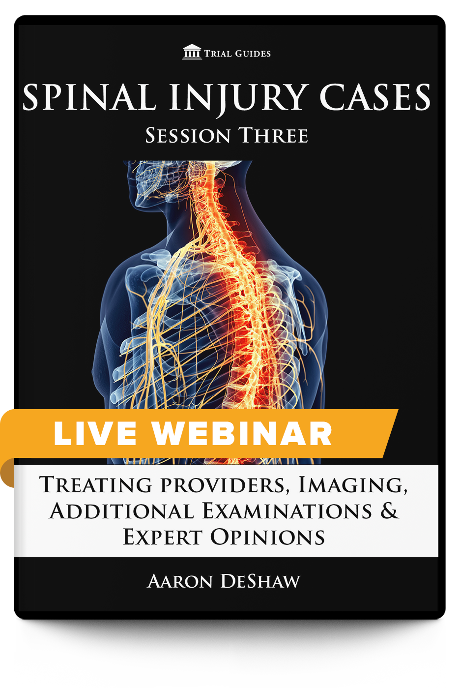 Spinal Injury Cases, Session Three: Treating Providers, Imaging, Additional Examinations & Expert Opinions - Live Webinar