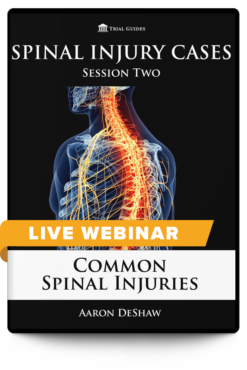 Spinal Injury Cases, Session Two: Common Spinal Injuries - Live Webinar