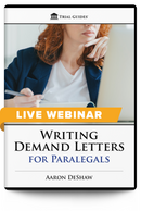 Writing Demand Letters for Paralegals - Live Webinar