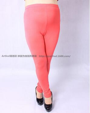 Colorful Modal Big Leggings Women Summer Pants Capris Plus Size Leggings Candy Color Leggings Big Women Pants Bodycon Pants XXXL - Azura Rose