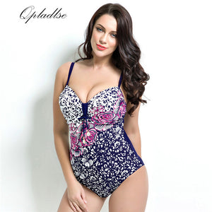 2018 Bather Plus Size Swimwear Female Sexy One Piece Indoor Swimsuit Women Tankini Push Up May Beach Wear Swimming Bathing Suit - Azura Rose
