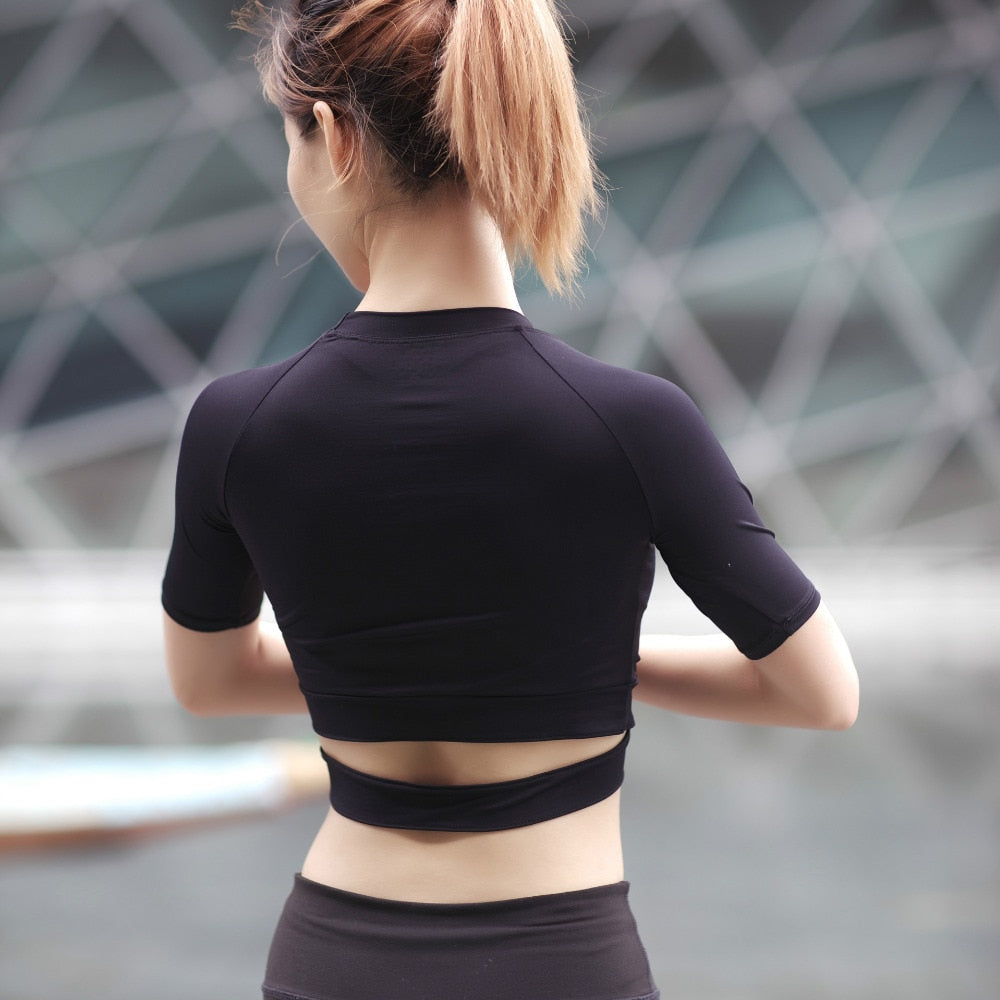 Sexy and Serious Yoga Crop Top