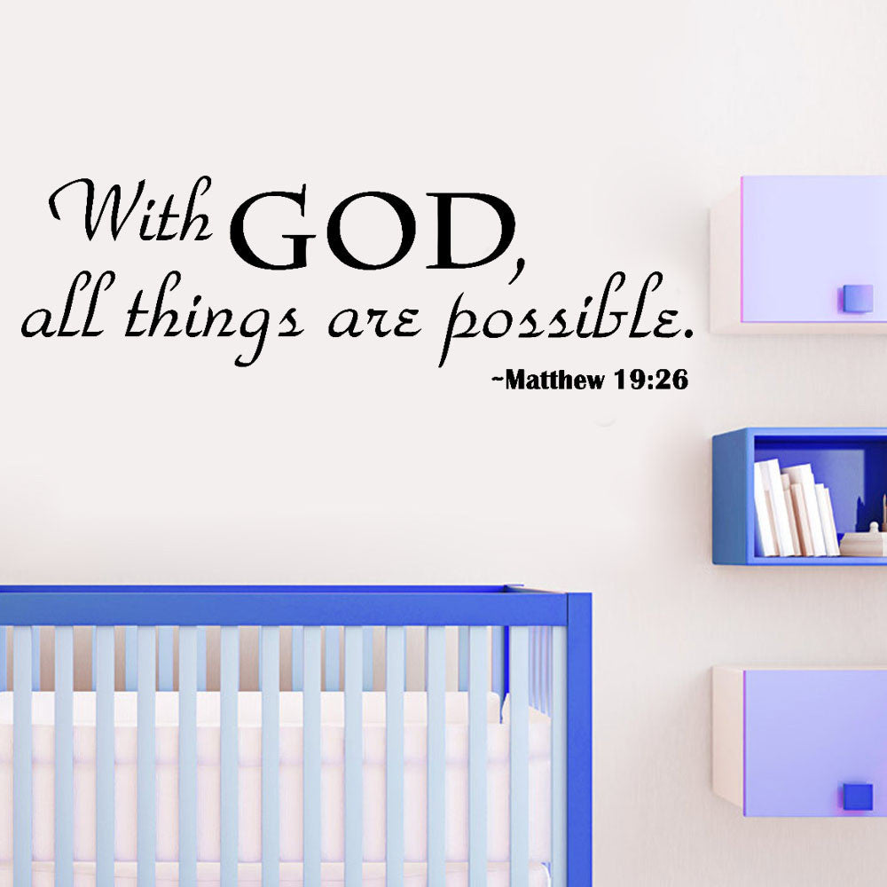 With God Home Decor Wall Sticker