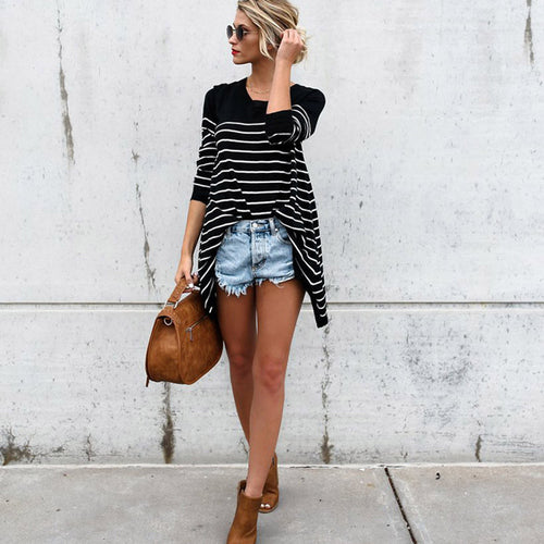 Striped Autumn Blouse