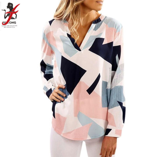 Geometric Printed Blouse