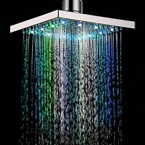 8-inch Multi-color Changing LED Water Shower Head