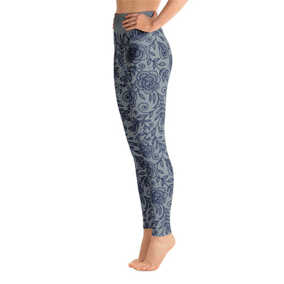 Roses Pants, Navy & Grey