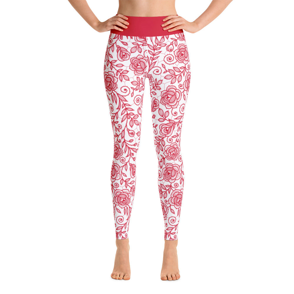 Roses Pants, Red & White