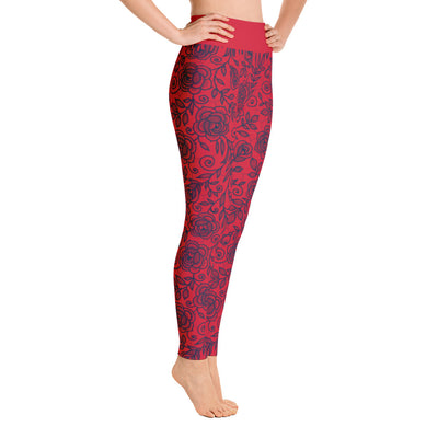 Roses Pants, Navy & Red