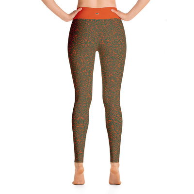 Mandala Pants, Orange & Grey
