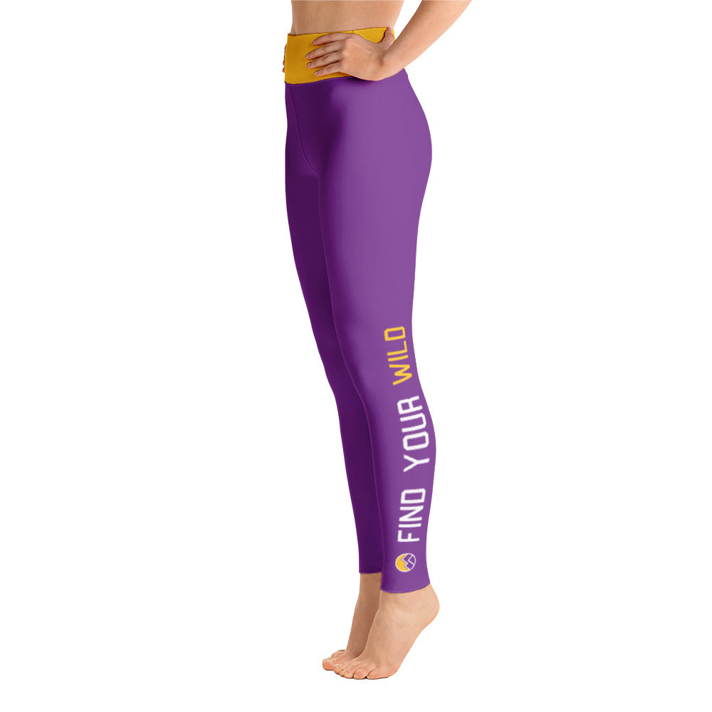 Find Your Wild Pants, Purple & Yellow