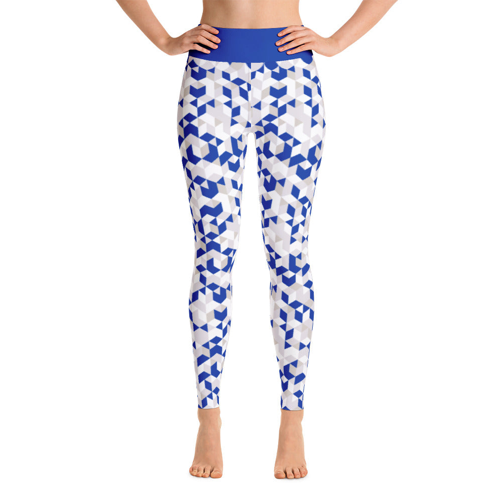 Cubed Pants, Blue & White