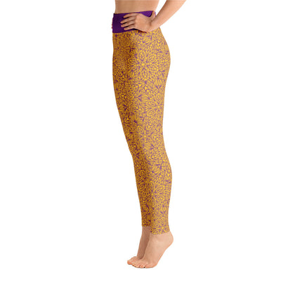 Mandala Pants, Purple & Yellow