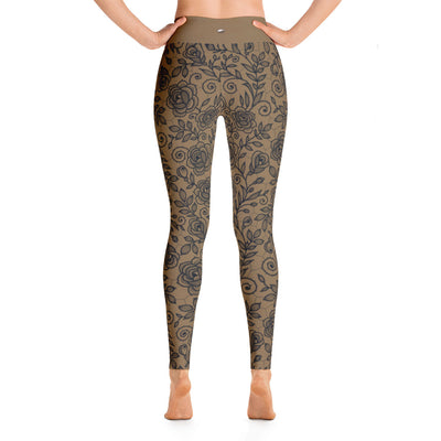 Roses Pants, Black & Gold