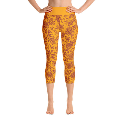 Roses Crops, Maroon & Orange