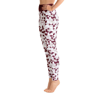 Cubed Pants, Maroon & White