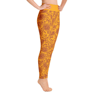 Roses Pants, Maroon & Orange