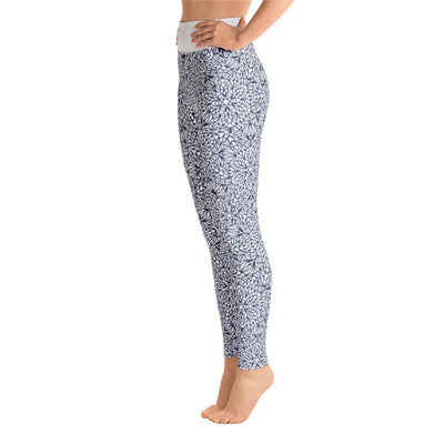 Mandala Pants, Navy & White