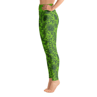 Roses Pants, Navy & Green