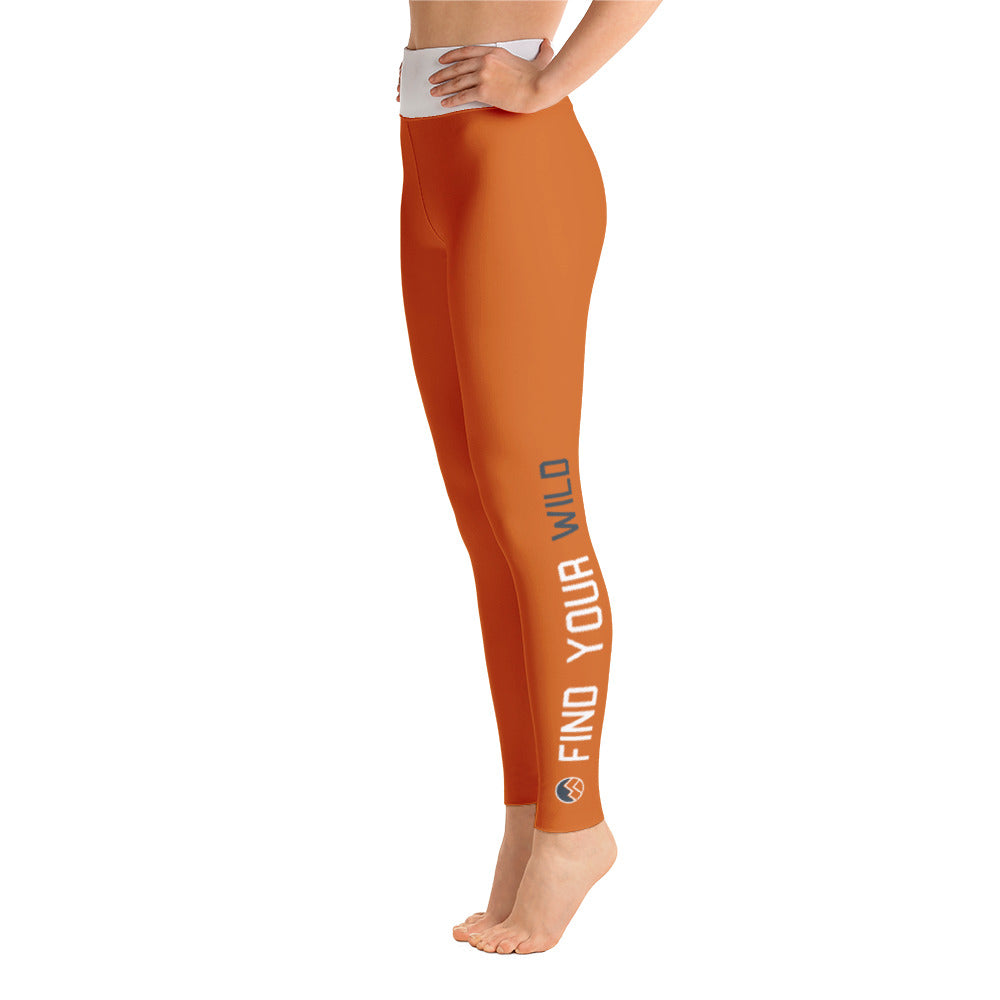 Find Your WIld Pants, Burnt Orange & White