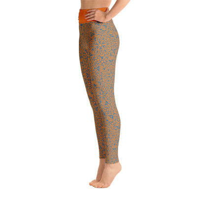 Mandala Pants, Light Blue & Orange