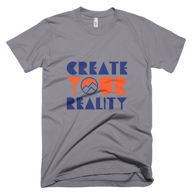 Create Your Reality Tee, Blue & Orange