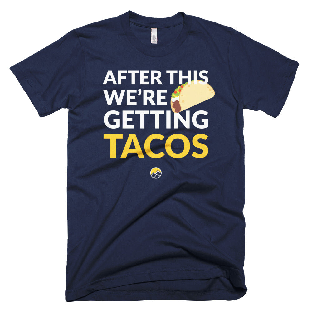 After This We're Getting Tacos Tee, Navy & Yellow