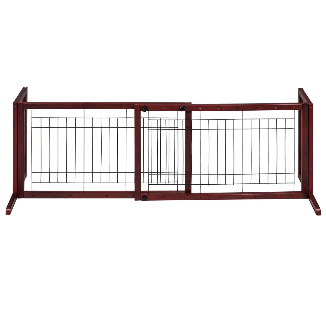 Wooden Fence Freestanding Pet Dog Gate Indoor Adjustable Gates ...