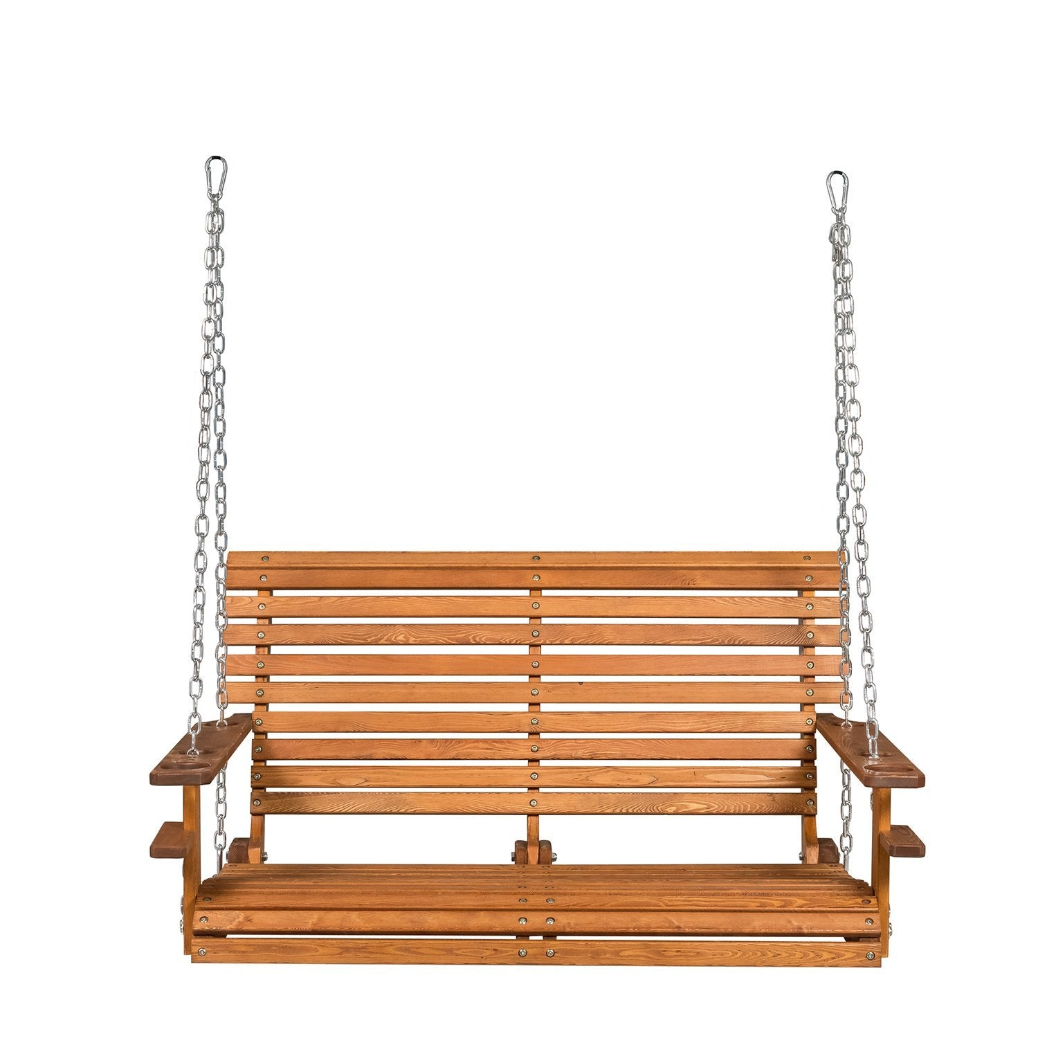 for deluxe wooden main patio sunnydaze ls yard person burnt orange cushions wsn swing deck with p or
