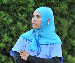 hijabs for women in medical, security, communications fields