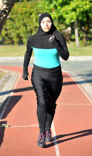 Hi Tech Performance Hijab on the Track