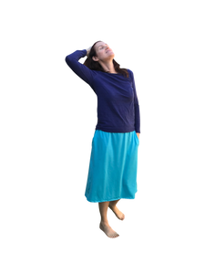 modest athletic skirt turquois