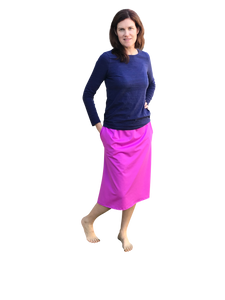 modest athletic skirt purple