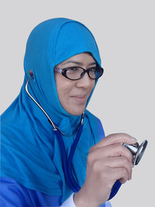 Hijab designed with doctors and nurses in mind