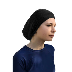 Athletic Head Covering Sports Head Scarf (Black)