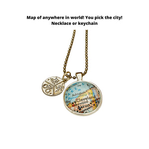 Triathlon Jewelry / CUSTOM Map Pendant