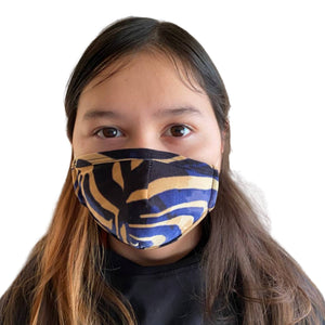 Gold & Blue 3-ply mask for Kids